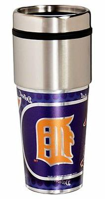 Detroit Tigers Stainless Steel 16Oz Travel Tumbler  Coffee C