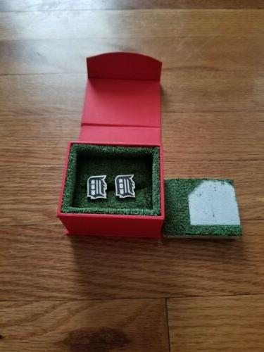 detroit tigers style cuff links best man