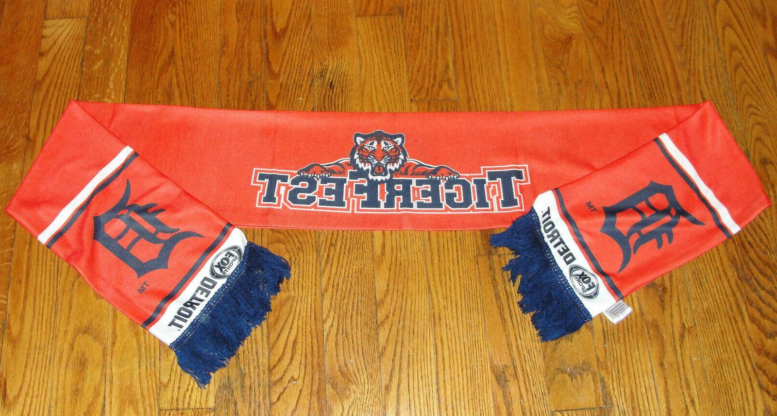 detroit tigers tigerfest winter scarf new baseball