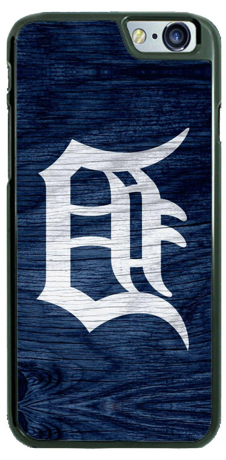 detroit tigers wooden baseball design phone case