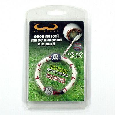 frozen rope baseball seam bracelet leather detroit