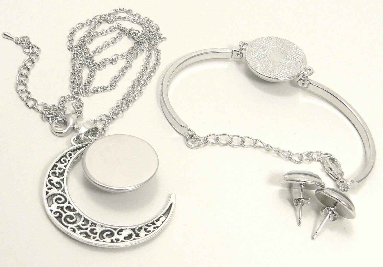 M98 logo -necklace, earrings-