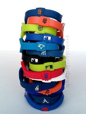 mlb baseball team bracelet wristband yankees giants