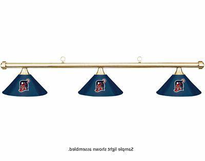 mlb detroit tigers blue metal shade brass