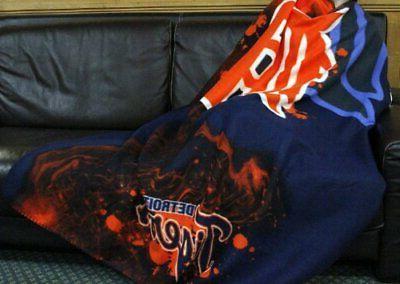 mlb detroit tigers fleece throw blanket