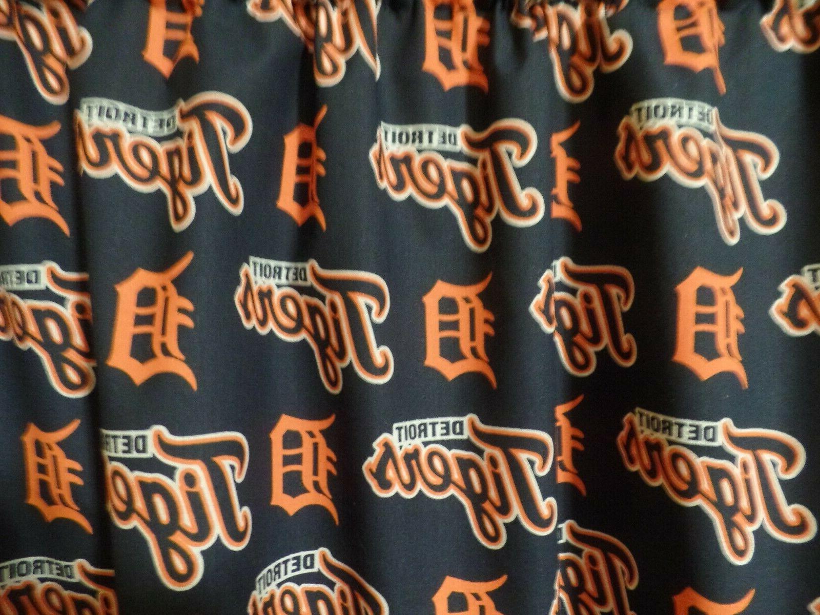 mlb detroit tigers sports team bedroom curtain
