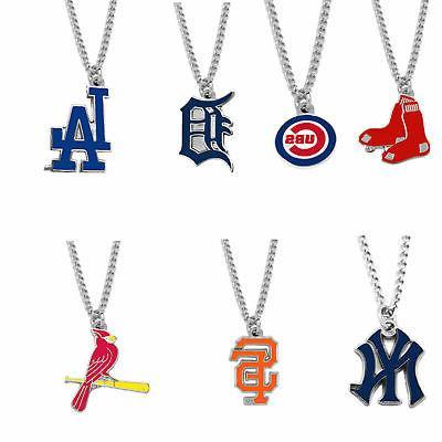 mlb logo necklace charm pendant pick your