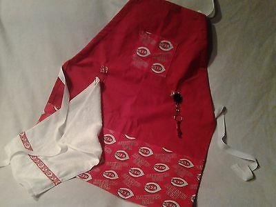 sports apron made with mlb fabric on