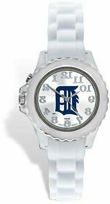 Youth MLB Detroit Tigers Flash White Strap Watch