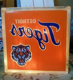Lighted Detroit Tigers  Glass Block Light~ Home Decor~Gift~L