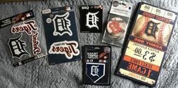 Lot 6 Detroit Tiger Collectibles MLB Plaque Magnet Sticker V
