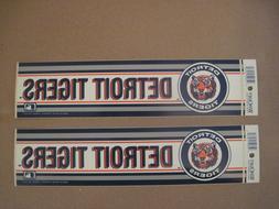 Lot Of  Vintage Detroit Tigers 1990's Wincraft Bumper Sticke