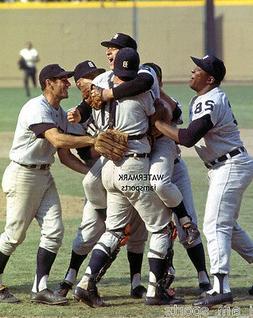MICKEY LOLICH BILL FREEHAN DETROIT TIGERS TEAM 1968 WORLD SE