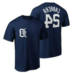 Miguel Cabrera Name & Number  #24 Detroit Tigers Majestic T-