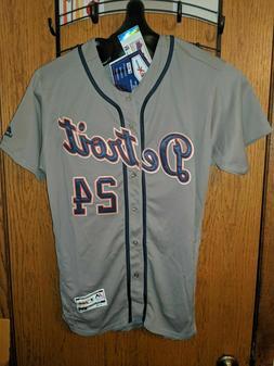 Miguel Cabrera Tigers Gray Jersey! Majestic Flex Size Medium
