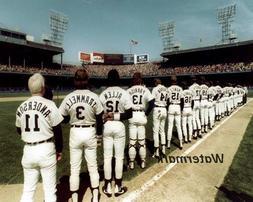 MLB 1984 Detroit Tigers Pre Game Ceremonies Color 8 X 10 Pho