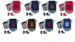 MLB Baseball Property Infant Boy's Layette Set Bodysuit Bib