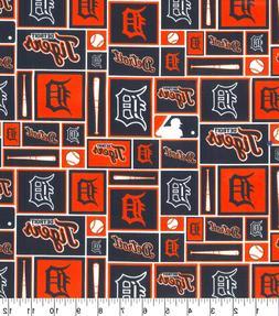MLB Cotton Fabric Detroit Tigers 100 % cotton FAT QUARTER fa