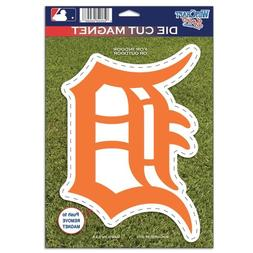 MLB Detroit Tigers 82766010 Die Cut Logo Magnet, Small, Blac