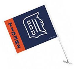 Fremont Die MLB Detroit Tigers Car Flag With Wall Bracket