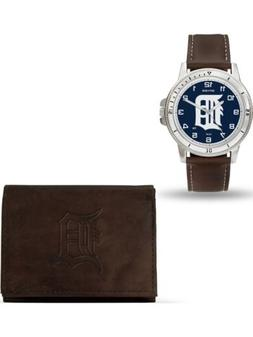 MLB Detroit Tigers Leather Watch/Wallet Set by Rico Industri