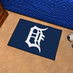 FANMATS MLB Detroit Tigers Nylon Face Starter Rug