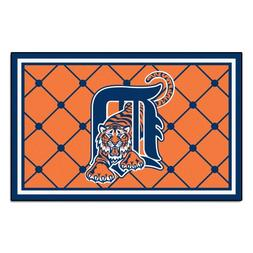 FANMATS MLB Detroit Tigers Nylon Face 4X6 Plush Rug