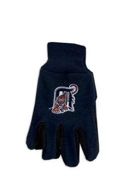 MLB Detroit Tigers Two-Tone Gloves, Blue/Orange