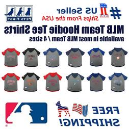 Pets First MLB Hoodie Tee Shirt for Dogs - Licensed, 22 Team