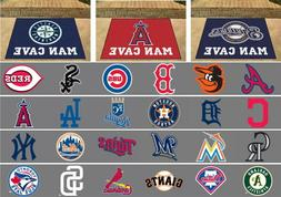 "MLB Man Cave Allstar Area Rugs 34"" x 43"" All Teams"