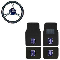 New 5pc MLB Detroit Tigers Car Truck Floor Mats & Steering W