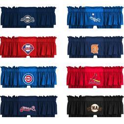 new baseball window valance major league sports