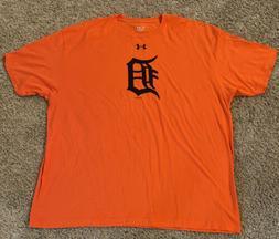NEW Under Armour Detriot Tigers Orange Loose Fit T Shirt Men