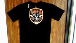 New - Detroit Tigers - Majestic Brand - Team Logo Print T-Sh