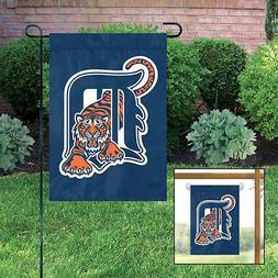 NEW DETROIT TIGERS Embroidered Garden Window FLAG w/free Han