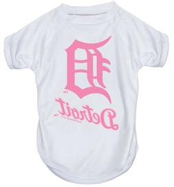 NEW DETROIT TIGERS PET DOG PINK PERFORMANCE T-SHIRT ACTIVE T