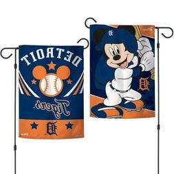 New Disney Mickey Mouse Detroit Tigers  MLB 2 Sided 12.5 X 1