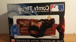 NEW MLB DETROIT TIGERS COMFY THROW BLANKET WITH SLEEVES WRAP