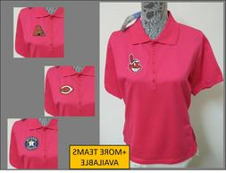 NEW S-3XL Hot Pink MLB WOMENS Cotton #589 Breast Cancer Polo