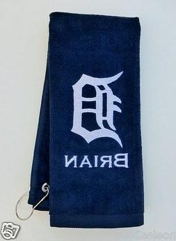 Personalized Embroidered Golf Bowling Workout Towel Detroit