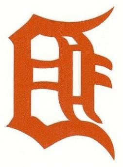 REFLECTIVE Detroit Tigers fire helmet decal sticker RTIC WV