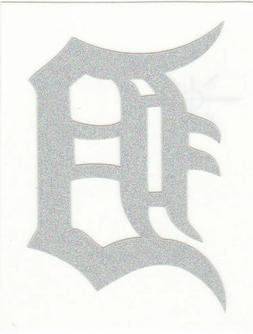REFLECTIVE Detroit Tigers fire helmet window decal sticker u