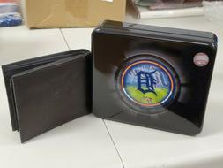 Sports Crate Detroit Tigers Bifold Leather Wallet w/ Case Lo