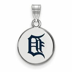 SS MLB  Detroit Tigers Small Enamel Disc Pendant