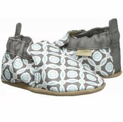 Robeez Infant Girl Khloe Charcoal LeatherUpper Soft Soles Lo