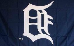 Tigers Banner Flag Baseball Logo 3' x 5' Detroit