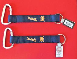 TWO  BEAUTIFUL AND HANDY, DETROIT TIGERS CARABINER KEYCHAINS
