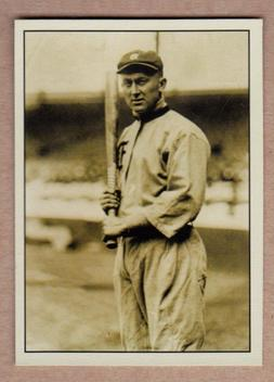 Ty Cobb Detroit Tigers signature photo card Plutograph seria