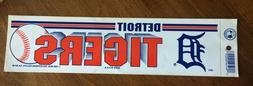 Vintage Detroit Tigers 1989 Bumper Sticker NOS Old Stock New