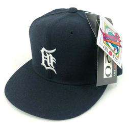 Vintage Detroit Tigers New Era Pro Model Fitted Hat Cap Navy
